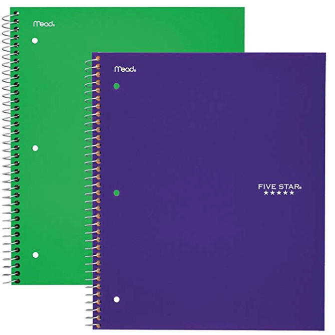 Five Star Spiral Notebooks
